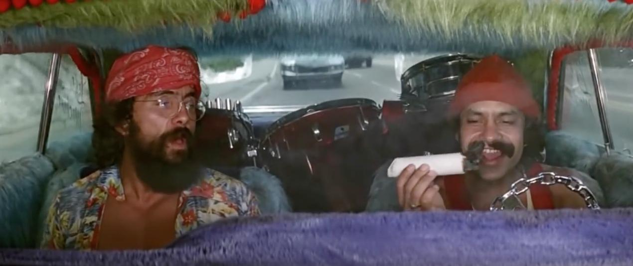 cheech and chong dind't care about their dog eating their stash because it didn't undergo decarboxylation