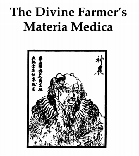 cannabis in ancient china -- the divine farmer's materia medica