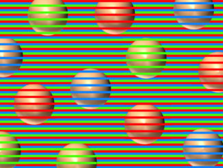 colored balls stripe illusion