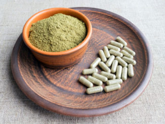 kratom and cbd on a dish
