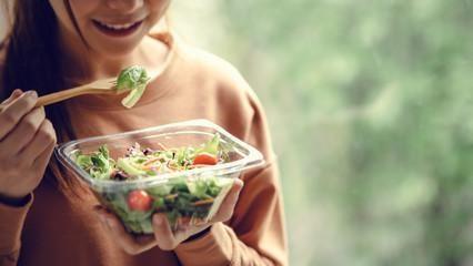 cannabis salad with cannabis leaves