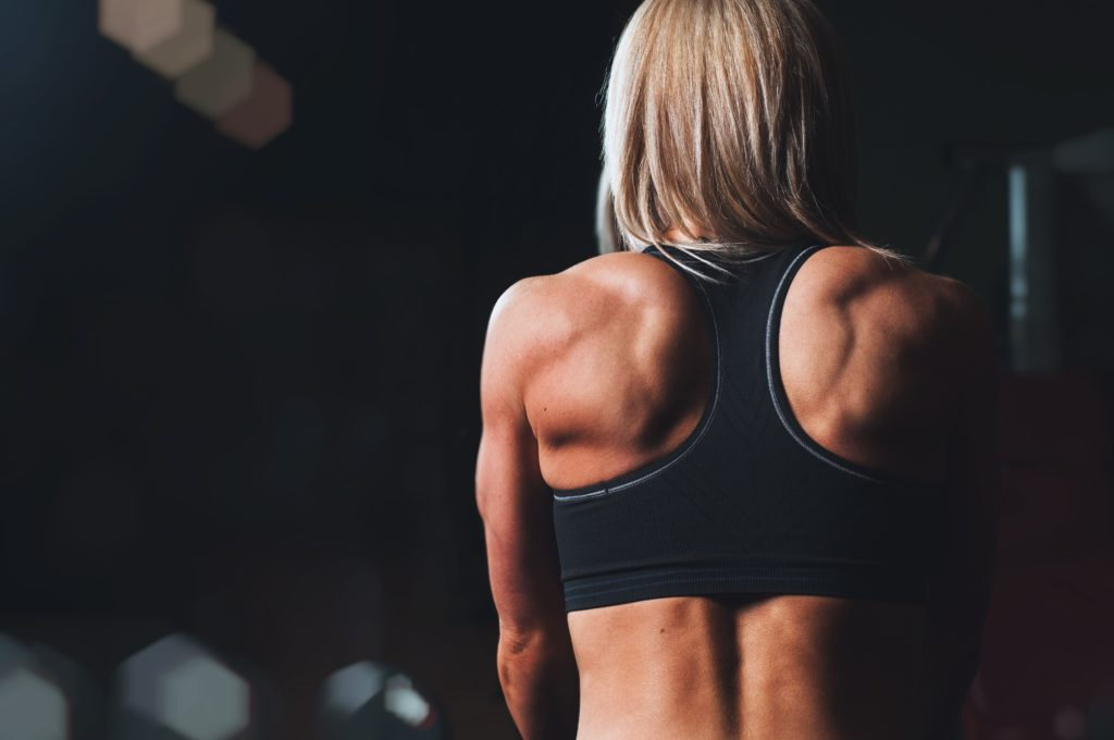 woman using cbd for fitness