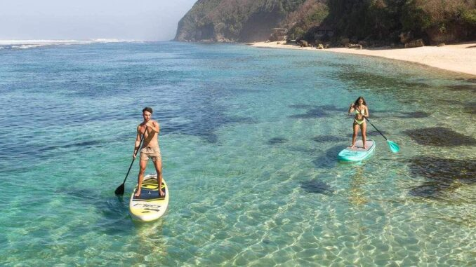 relax with a stand up paddle board