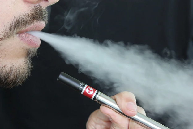 Non Nicotine Vape blowing smoke