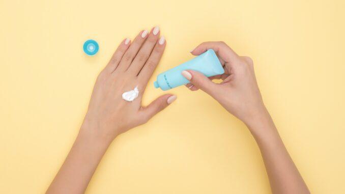 cbd hand skincare routine