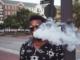guy smoking cbd vape juice